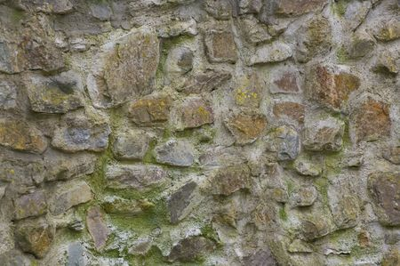 scarred: Old dutch brick castle wall, weathered, scarred and repaired