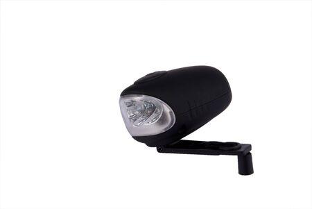 windup: Black wind up LED pocket lamp