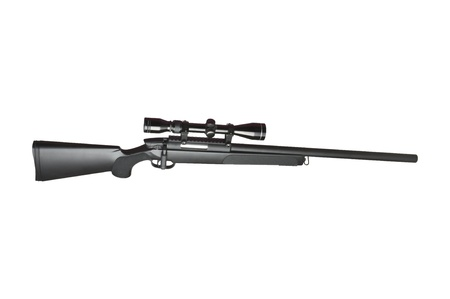 sniper: Rifle with scope on white