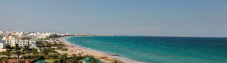 Panorama view over the coast from Mahdia 版權商用圖片