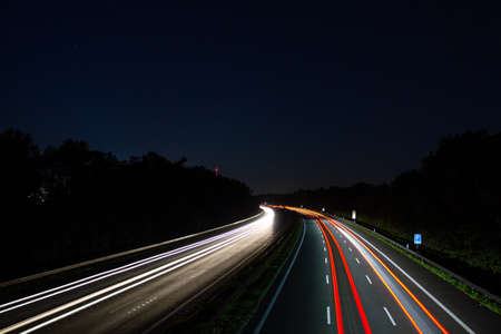 highway in germany in near of Guetersloh in direction Dortmund