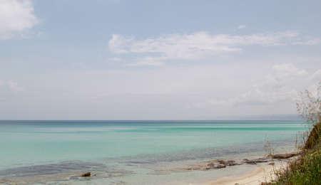lonesome beautiful beach in greece