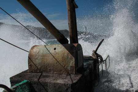 Dangerous waves at La Palma