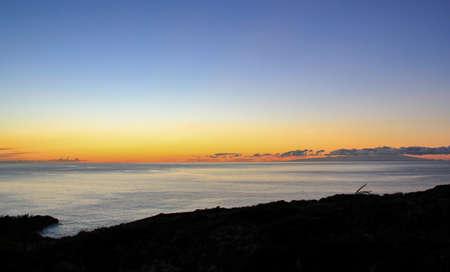 Sunrise on La Palma with a view to Tenerife 版權商用圖片