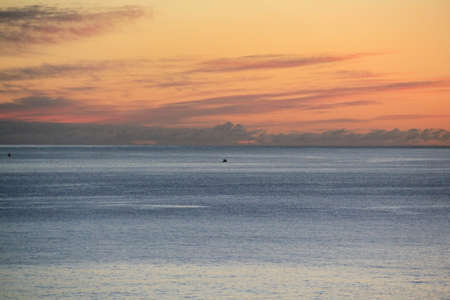 sailing boats in the sunrise on the atlantic in front of la palma