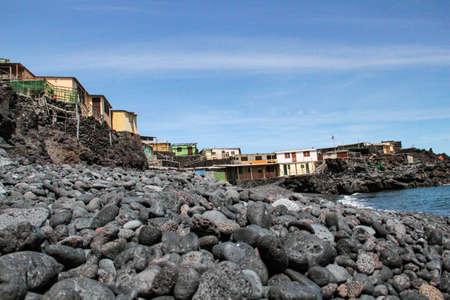 buildings from natives at the beach Punta Marin