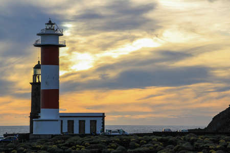 light house at the atlantic in the south of la palma faro fuencaliente