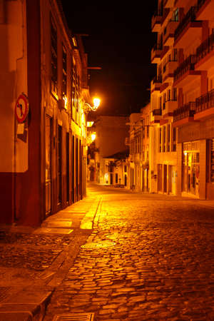 old town from santa cruz de la palma in the night