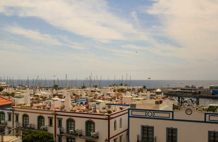 Puerto de Mogán from a viewpoint over the harbor