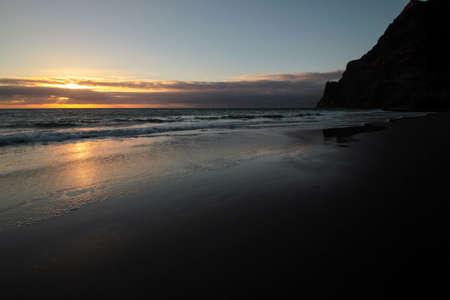 sundown at the beach gui-gui chico gran canaria