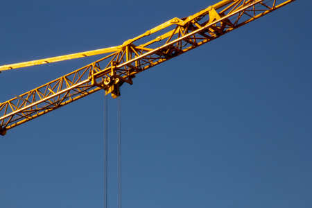 building crane under a blue sky