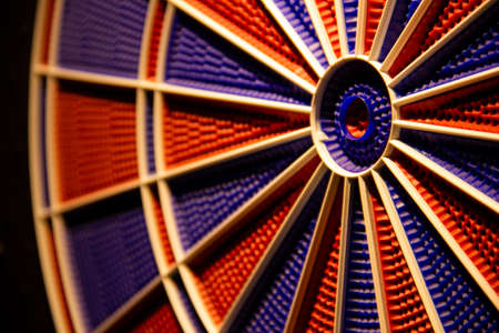 electronic dart with red and blue spider