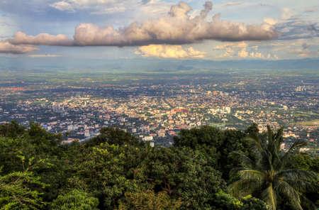 mai: Chiang mai cityscape Stock Photo