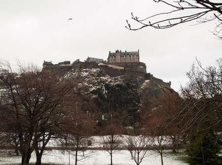 Edinburgh castle winter