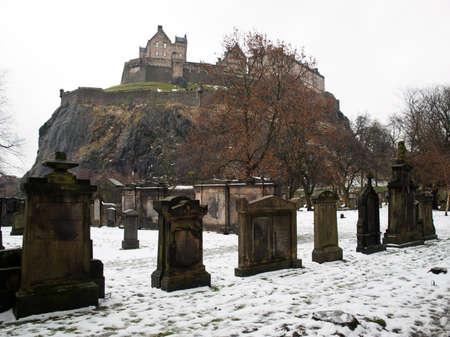 Edinburgh castle graveyard