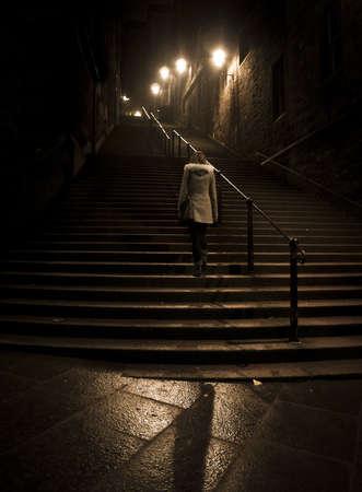 alejce: Schody Edynburg nocne
