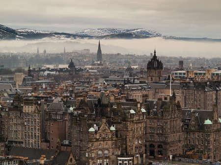 Edinburgh paesaggio urbano Archivio Fotografico
