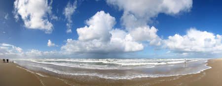 texel: Large beach panorama Stock Photo