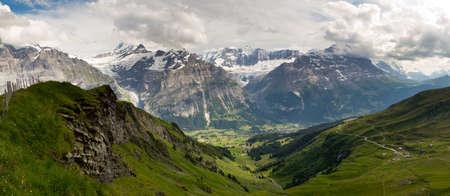 jungfraujoch: Grindelwald panorama Stock Photo