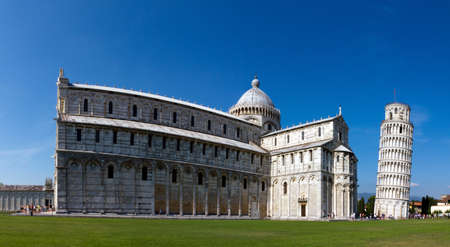 Leaning tower and cathedral of Pisa Stock Photo - 14014151