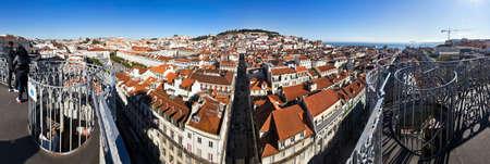 justa: Lisbon panorama seen from the Santa Justa elevator