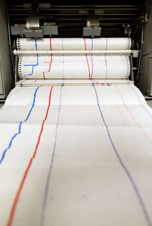printer drawing: Paper comes out of an printing monitoring device
