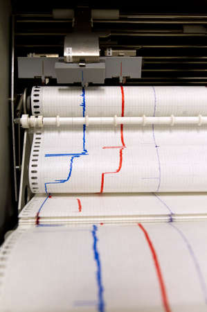 Paper comes out of an printing monitoring device