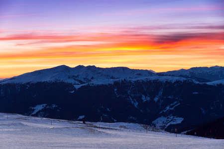 italien: Beautiful sunset in the Italien alps