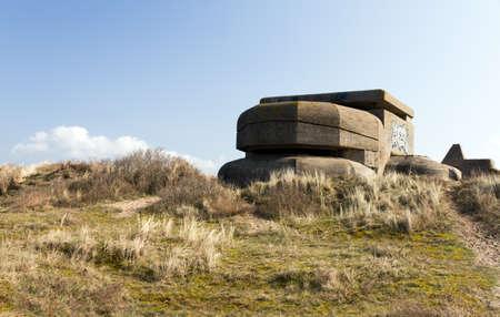 ijmuiden: WW2 bunker in the dunes of Ijmuiden, The Netherlands