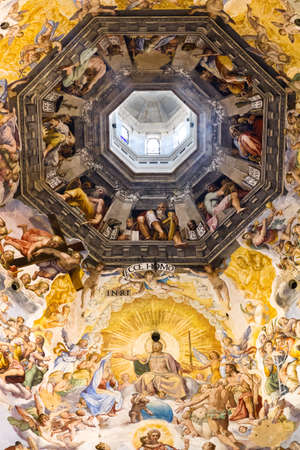 giorgio: Painting on the inside of the dome of the Florence Cathedral  Created in 1568 by Giorgio Vasari and Federico Zuccari