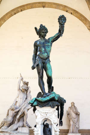 Perseus with the Head of Medusa in the Loggia dei Lanzi in Florence, Italy Stock Photo - 15941105