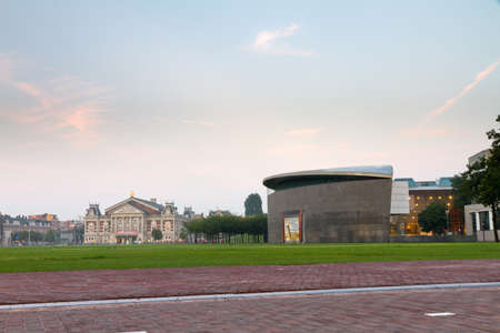 van gogh: View towards the renewed Van Gogh museum on the museum square in Amsterdam, the Netherlands Editorial