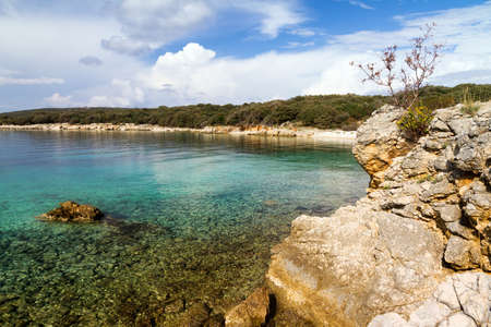 polarised: View on the coastline of the island Pag in Croatia