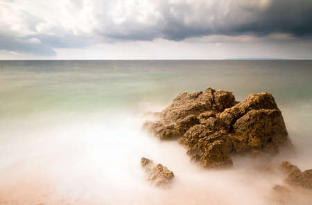 polarised: Long exposure image of a stormy beach in Croatia