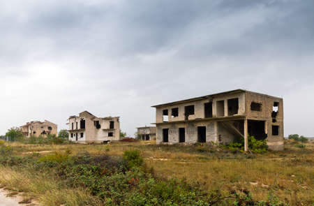 Abandoned houses shot to pieces in the war Stock Photo - 18278688