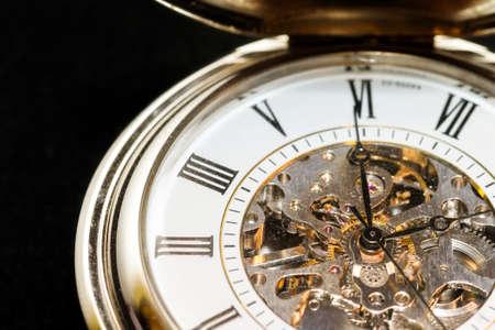 timepiece: Macro image of a beautiful pocket watch