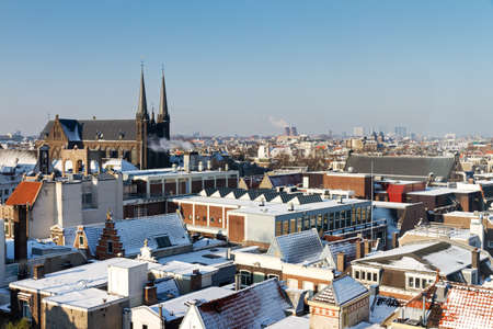 View over Amsterdam, the Netherlands, from the Kalvertoren in winter photo