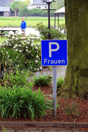 in need of space: Parking spot just for women, who need more space to park