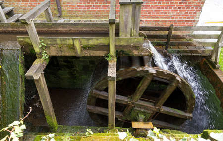 Ancient water wheel in action