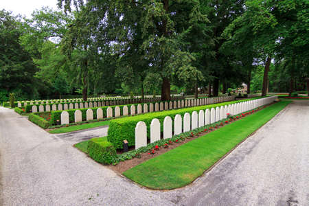 Military War Cemetery Grebbeberg near Rhenen and Wageningen in the Netherlands