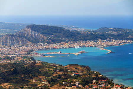 Beautiful view over Zakynthos city on the Greek island Zakynthos  photo