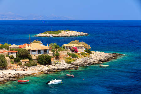 little town: Idyllic little town at the sea on the island of Zakynthos in summer