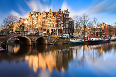 the Brouwersgracht en Prinsengracht Prince s canal in Amsterdam, the Netherlands