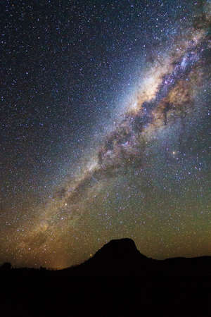 Beautiful image of the milky way seen from Isalo, Madagascar photo