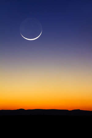 Beautiful new moon at sunset in Madagascar Фото со стока - 31016903