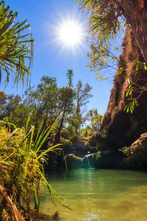 Beautiful oasis La Piscine Naturelle in Isalo national park in Madagascar photo
