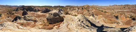 extraordinary: Extraordinary 360 degree panorama of Isalo national park, Madagascar Stock Photo