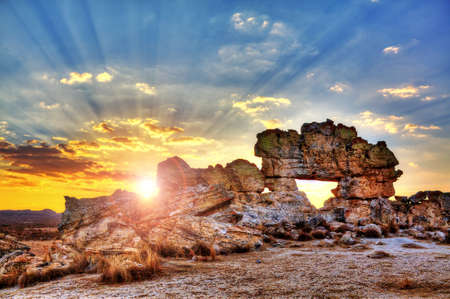 Sunset at the famous rock formation  photo