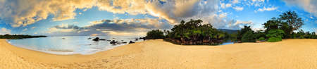Beautiful 360 degree panorama at the beach of Masoala national park Madagascar