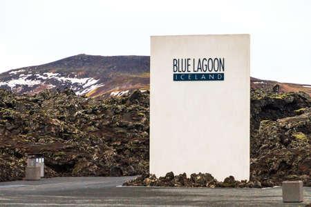 blue lagoon: L'ingresso al Blue Lagoon, una spa geotermica turistico in Grindavik, Islanda, il 6 Febbraio 2014